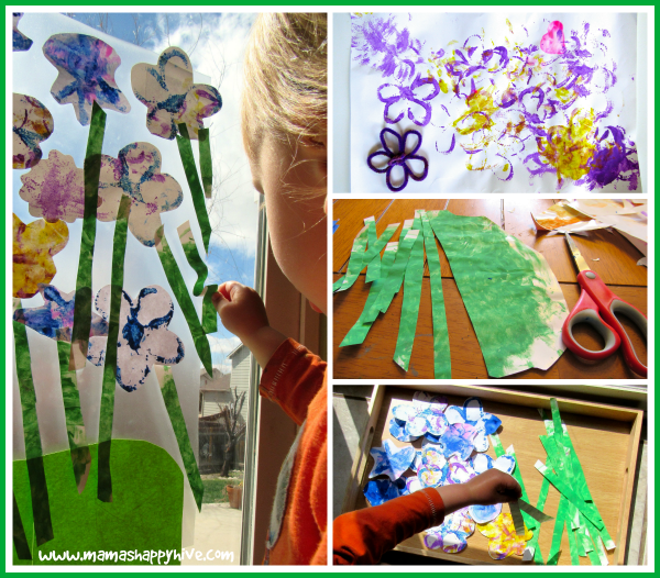 Preparing the Flower Art - www.mamashappyhive.com
