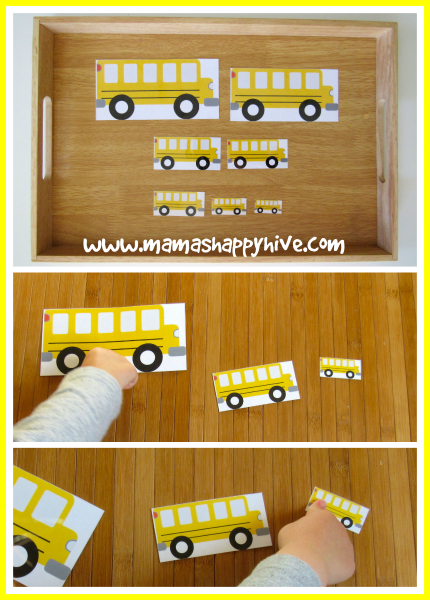School Bus Sort - www.mamashappyhive.com
