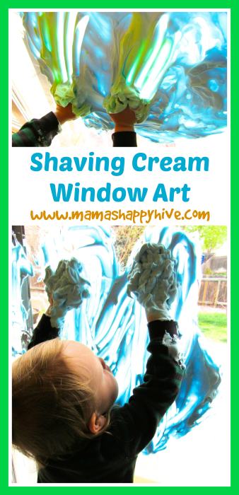 Shaving Cream Window Art - www.mamashappyhive.com