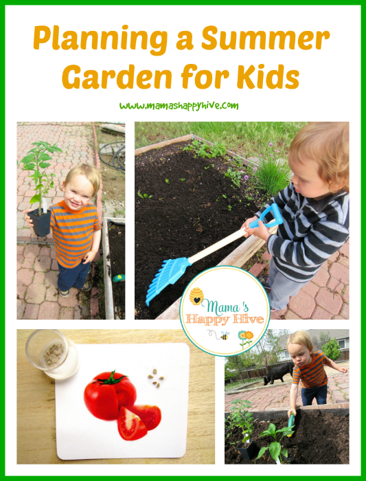 Enjoy activities for planning a summer garden for kids. Also, enjoy 30+ kid friendly summer activities to keep your family entertained all summer long! - www.mamashappyhive.com