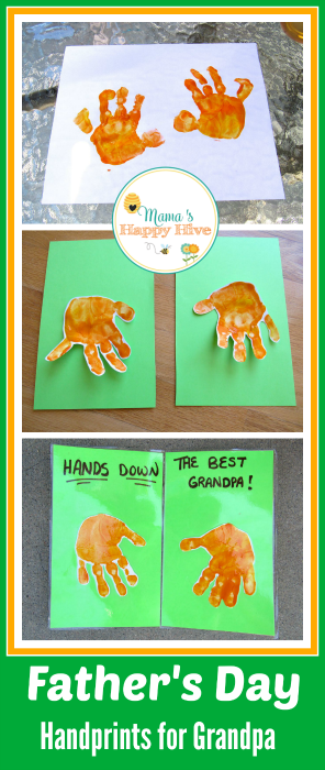 Father's Day Handprints for Grandpa - www.mamashappyhive.com