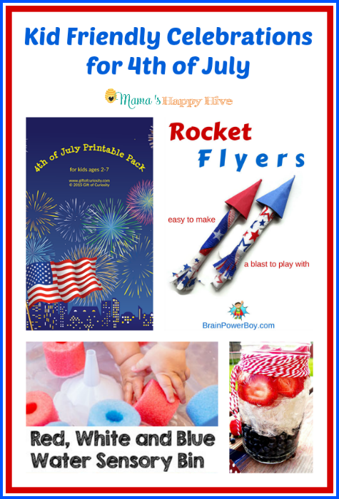 "Enjoy four kid friendly 4th of July celebration activities for kids of all ages. Plus, ""A Little Bird Told Me"" Wednesday link party! Come link up! - www.mamashappyhive.com"