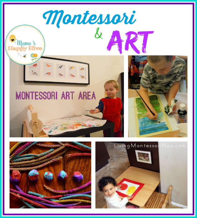 "A lovely collection of Montessori and art projects for toddler and preschool aged children to enjoy. Plus, ""A Little Bird Told Me"" Wednesday link party. Come link up! - www.mamashappyhive.com"