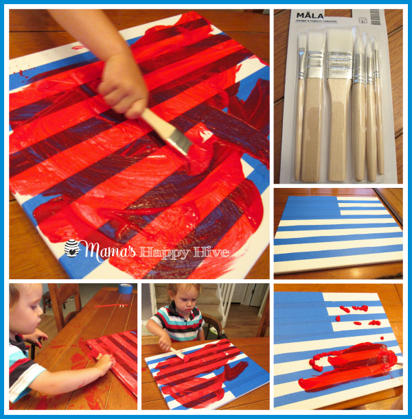 Painting the flag - www.mamashappyhive.com