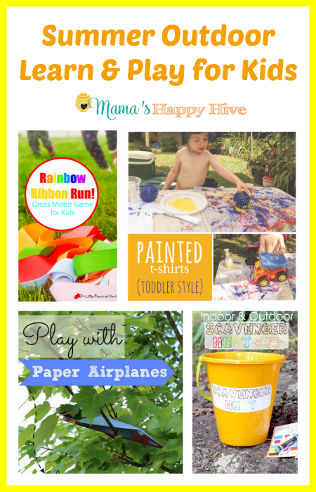 Summer Outdoor Learn & Play for Kids - www.mamashappyhive.com