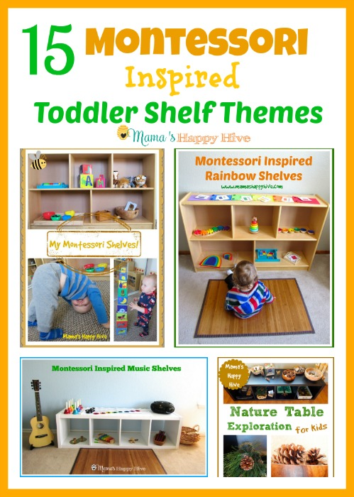 15 Montessori Toddler Shelf Themes