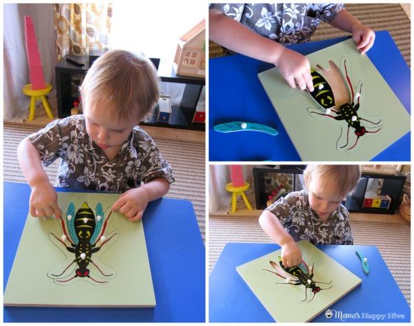 Bee Puzzle - www.mamashappyhive.com