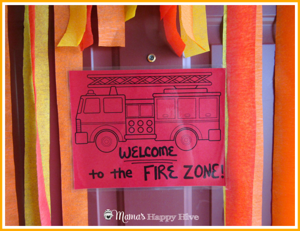 Fire Zone Sign - www.mamashappyhive.com