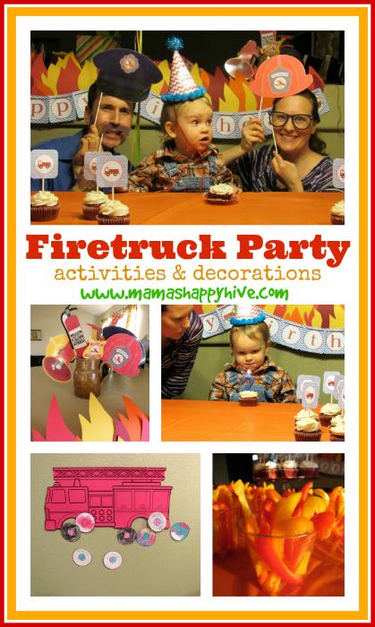 Firetruck Party - www.mamashappyhive.com