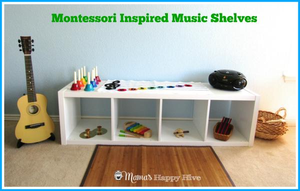 Montessori Music Shelves - www.mamashappyhive.com