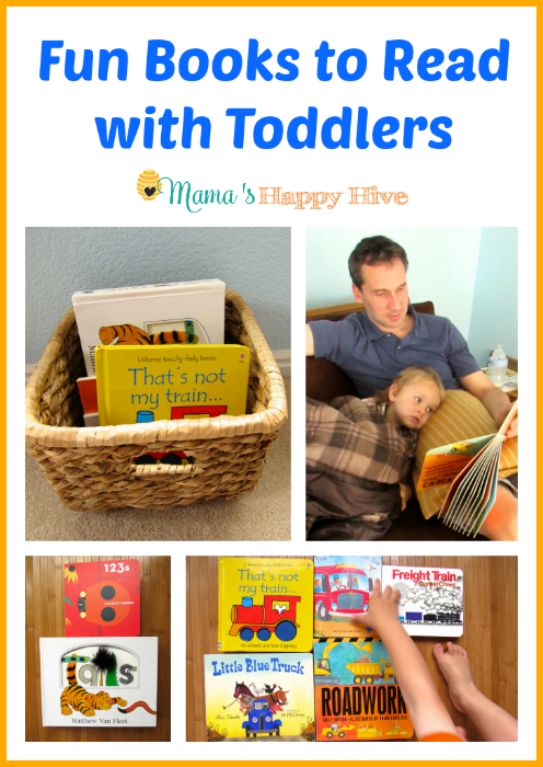 This is an amazing list of fun books to read with toddlers and also attractive ideas for book storage. - www.mamashappyhive.com