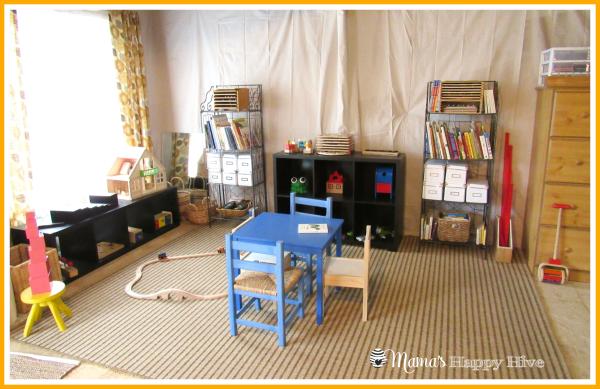 Montessori Homeschool Room - www.mamashappyhive.com