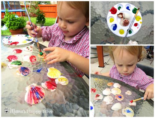 Painting Shells - www.mamashappyhive.com