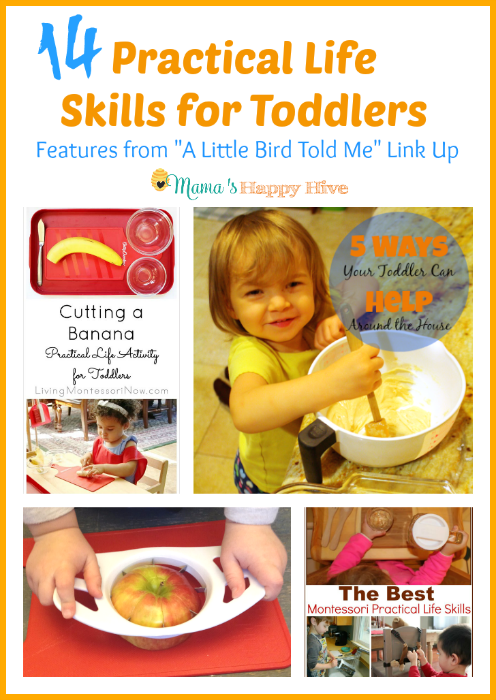 14 Practical Life Skills for Toddlers {Link Party #19}