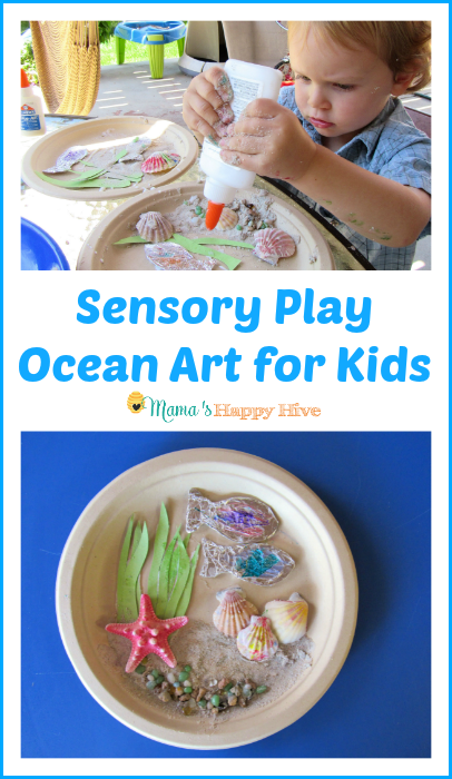 Sensory Play Ocean Art for Kids - www.mamashappyhive.com