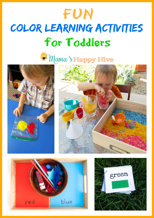 Fun Color Learning Activities for Toddlers - www.mamashappyhive.com