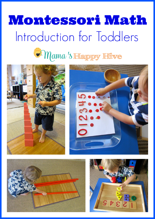 Montessori Math Introduction for Toddlers - www.mamashappyhive.com