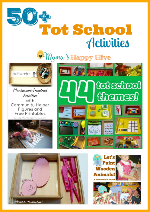 "A fun collection of 50 plus tot school activities and theme ideas! Plus, ""A Little Bird Told Me"" Wednesday link party! - www.mamashappyhive.com"