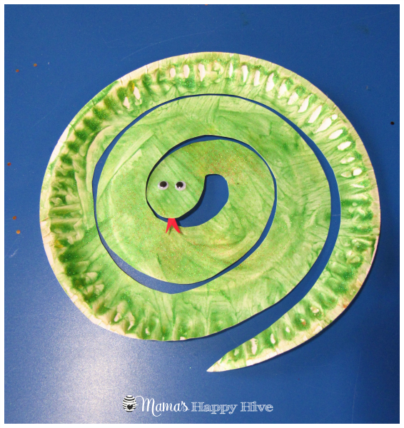 Snake Craft Paper Plate