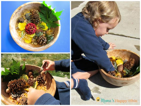 Leaf Sensory Bowl - www.mamashappyhive.com