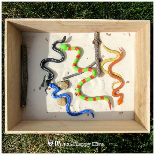 Snake Sensory Box - www.mamashappyhive.com