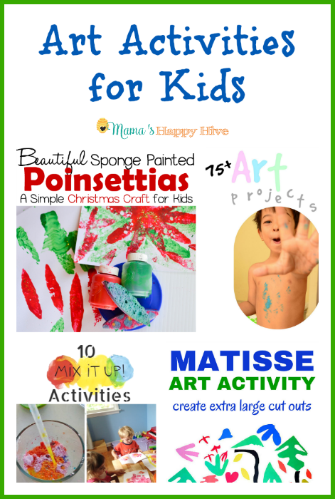 "An amazing collection of art activities for kids. Also, ""A Little Bird Told Me"" Wednesday link party. - www.mamashappyhive.com"