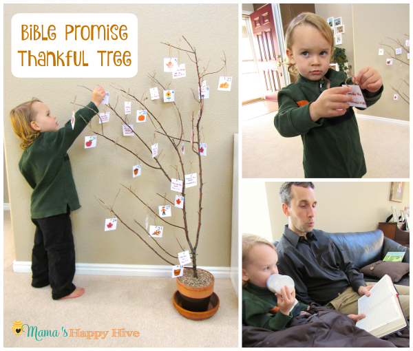 Bible Promise Thankful Tree - www.mamashappyhive.com