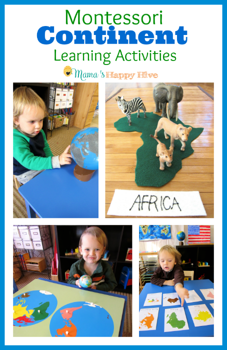 Montessori Continent Learning Activities - www.mamashappyhive.com