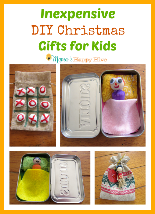 Inexpensive DIY Christmas Gifts for Kids - www.mamashappyhive.com
