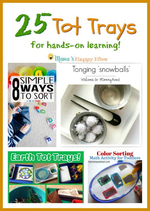 25 Tot Trays for Hands-on Learning