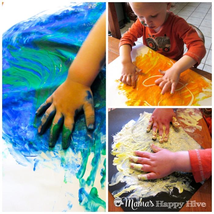 Finger Painting - www.mamashappyhive.com