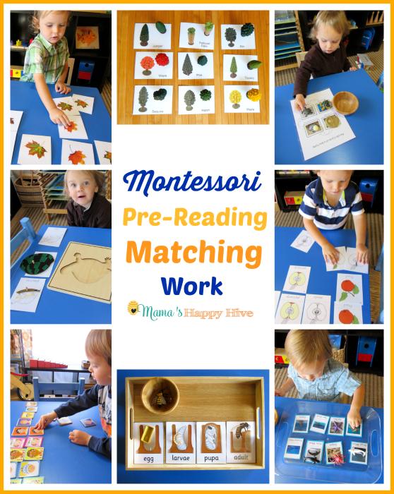 Montessori Pre-Reading Activities: Matching Work - www.mamashappyhive.com
