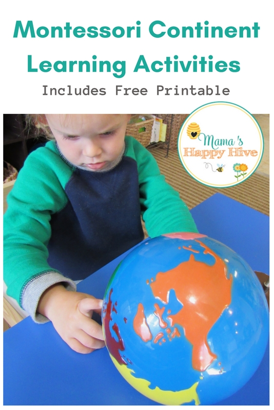 Montessori Continent Learning Activities