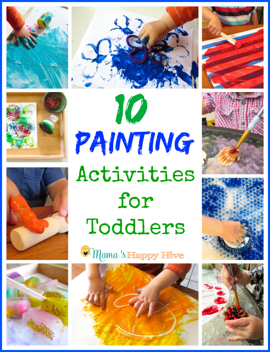 Painting Activities for Toddlers - www.mamashappyhive.com