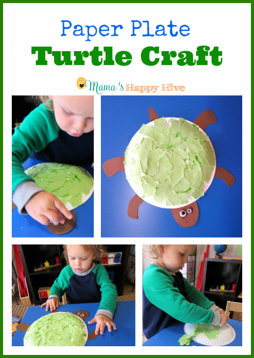 Paper Plate Turtle Craft - www.mamashappyhive.com