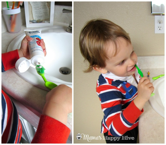 Brushing Teeth - www.mamashappyhive.com
