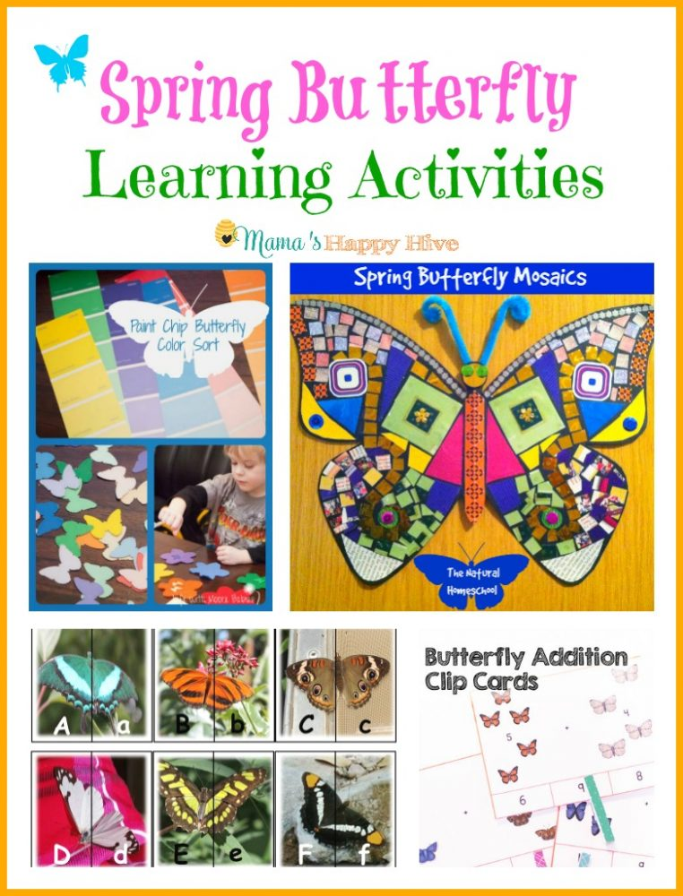 Spring Butterfly Learning Activities Mama S Happy Hive
