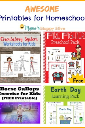 Awesome Printables for Homeschool