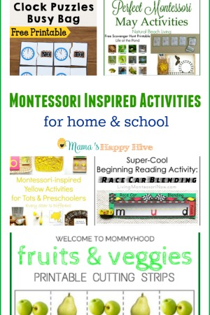 Montessori Inspired Activities for Home and School