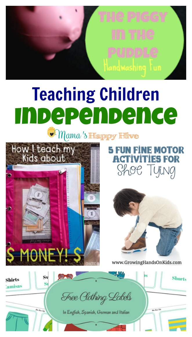 This collection of activities includes a fun hand washing activity, teaching children about the responsibility of using money, fine motor activities for shoe tying, fostering independence with clothing, and 100+ Montessori practical life skills. - www.mamashappyhive.com