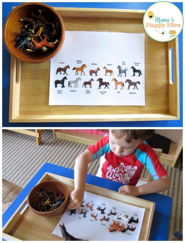 Matching Horses - www.mamashappyhive.com