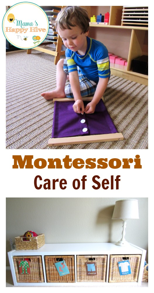 Montessori Care of Self - www.mamashappyhive.com