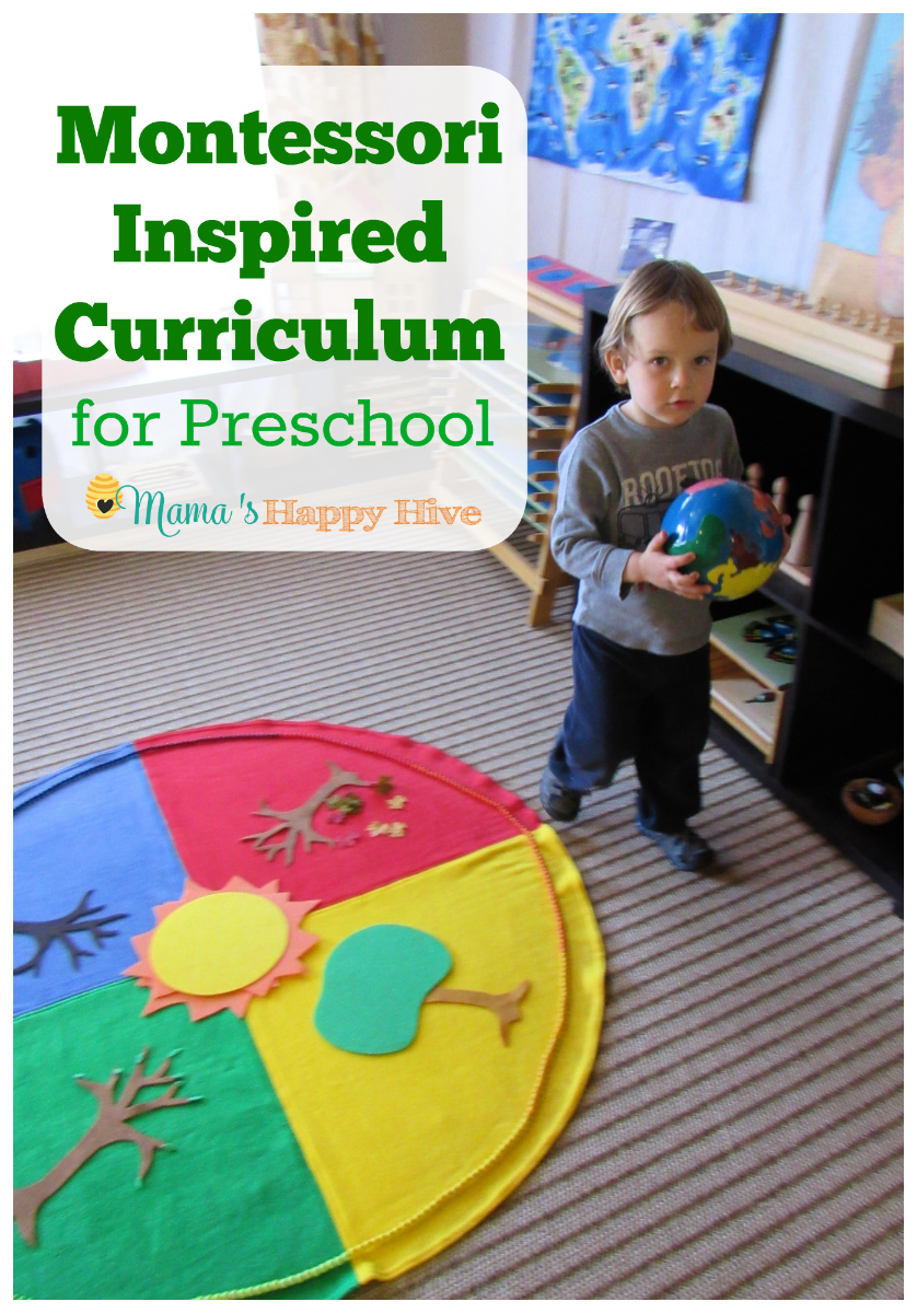 *Montessori Inspired Curriculum for Preschool
