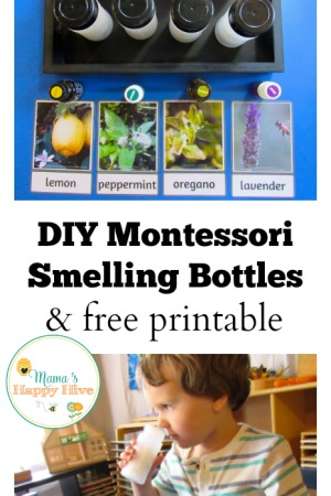 DIY Montessori Smelling Bottles and Free Printable