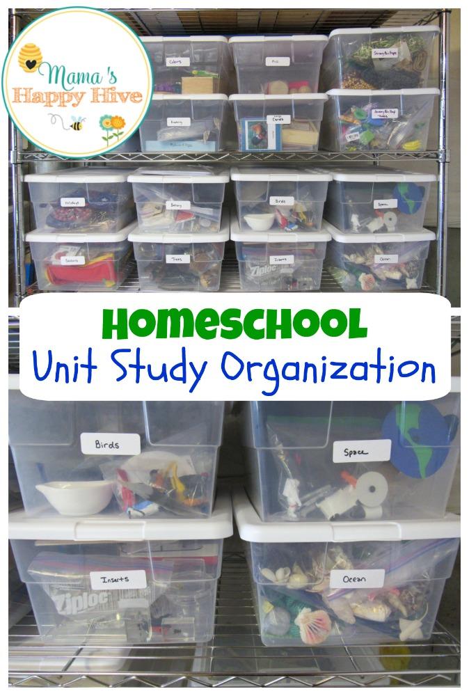 Unit Study Organization - www.mamashappyhive.com