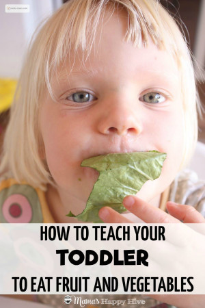 How to Teach Your Toddlers To Eat Fruit and Vegetables