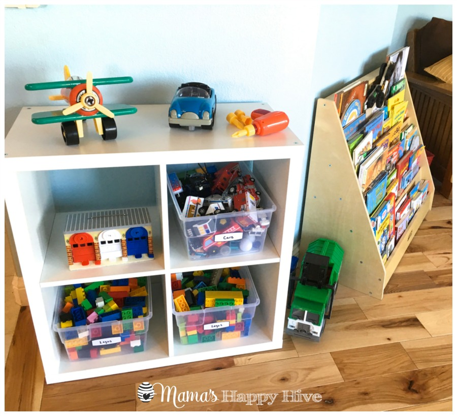 Toy Rotation System Using Plastic Bins And Shelves