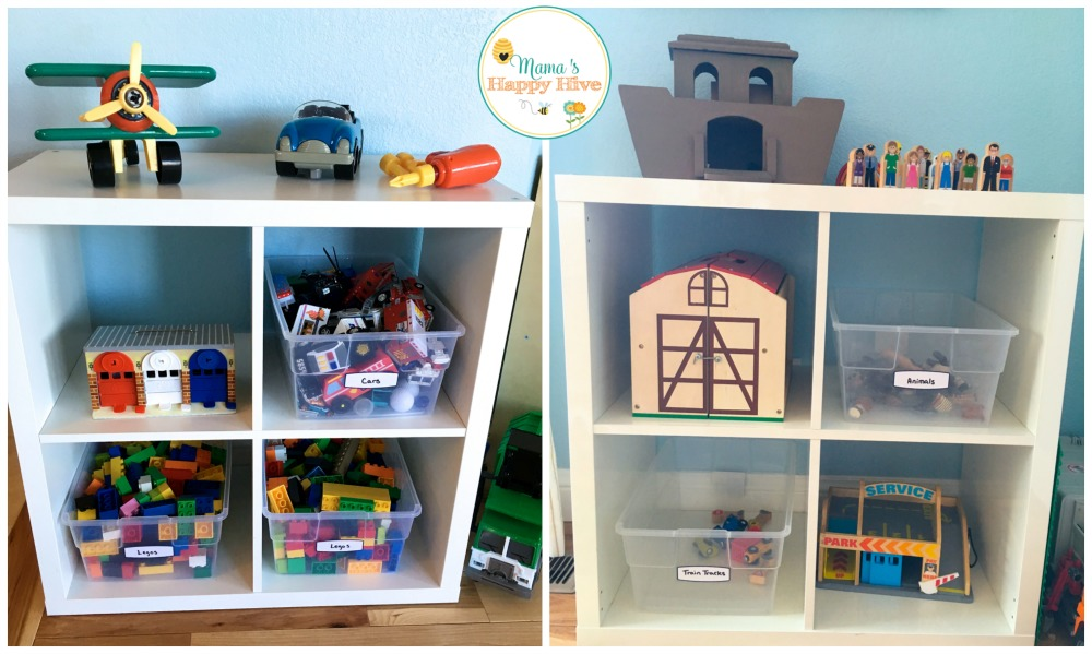 toy-shelves--mamashappyhive-com & Toy Rotation System Using Plastic Bins and Shelves