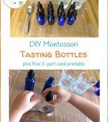 DIY Montessori Tasting Bottles and Free Printables