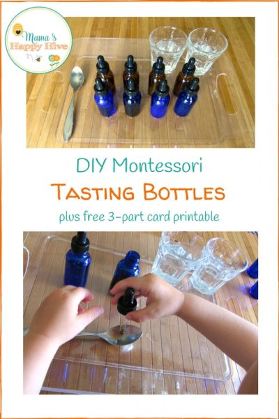 DIY Montessori Tasting Bottles and Free Printables
